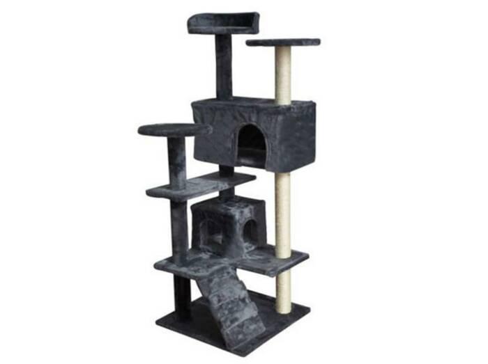 Ξύλινο Δέντρο Ονυχοδρόμιο Γάτας με 7 επίπεδα