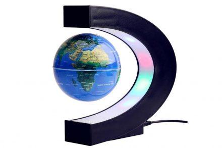 Μαγνητική Αιωρούμενη Υδρόγειος Σφαίρα με Φωτιζόμενη βάση C-shape