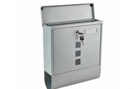 Γραμματοκιβώτιο από Ανοξείδωτο Ατσάλι με κλειδαριά και θέση για εφημερίδα