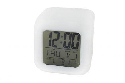Φωτιζόμενο ψηφιακό  ρολόι ξυπνητήρι σε σχήμα κύβου