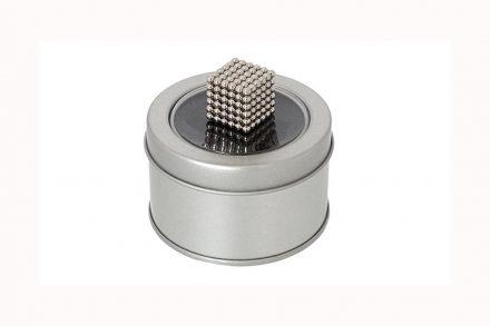 Κύβος από Μαγνητικές μπίλιες 216 τεμαχίων για μαγνητικά  τρισδιάστα πάζλ σε μεταλλικό κουτί - Aria Trade