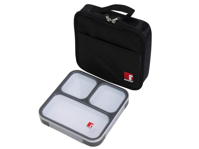 Φαγητοδοχείο Lunchbox και Τσάντα Lunchbag σε μαύρο χρώμα