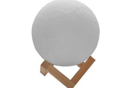 Διακοσμητικό Φωτιστικό Αφής με σχέδιο φεγγάρι 3D διαμέτρου 15 εκατοστών - Aria Trade