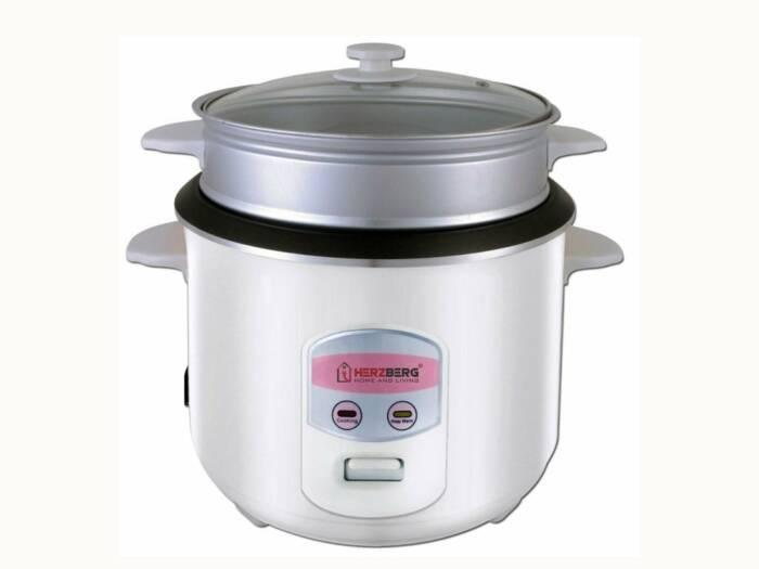 Herzberg Παρασκευαστής ρυζιού και Ατμομάγειρας 900W 2.2L