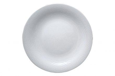 Pierre Cardin Πιάτο από Πορσελάνη διαμέτρου 25 cm σε λευκό χρώμα
