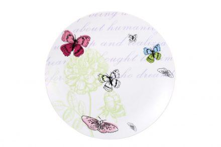 Pierre Cardin Πιάτο από Πορσελάνη διαμέτρου 27 cm με σχέδιο Butterfly