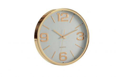 Αναλογικό Ρολόι Τοίχου με διάμετρο 40cm σε χρυσή απόχρωση - Aria Trade