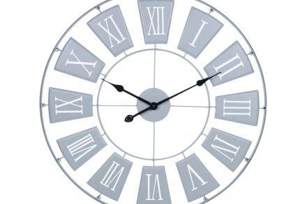 Αναλογικό Μεταλλικό Ρολόι Τοίχου με διάμετρο 70 cm σε γκρι χρώμα - Aria Trade