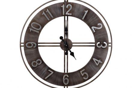 Αναλογικό Μεταλλικό Ρολόι Τοίχου με διάμετρο 76 cm σε καφέ χρώμα - Aria Trade