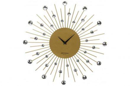 Αναλογικό Ρολόι Τοίχου με πέτρες