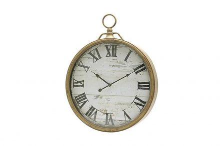 Αναλογικό Ρολόι Τοίχου με διάμετρο 48cm σε χρυσή απόχρωση