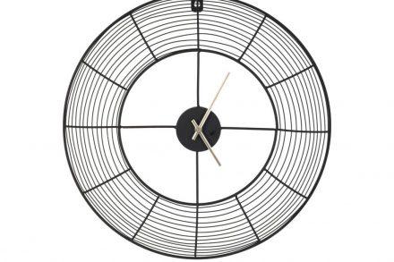 Αναλογικό Ρολόι Τοίχου με διάμετρο 37 cm σε μαύρο χρώμα
