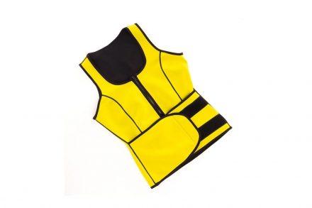 Γυναικείο Αθλητικό Γιλέκο Κορσές Αδυνατίσματος με Επίδραση Σάουνας σε κίτρινο χρώμα