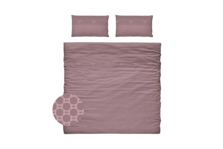 Versace 19.69 Σετ Παπλωματοθήκη με Δύο Μαξιλαροθήκες σε Ροζ χρώμα - Versace 19.69