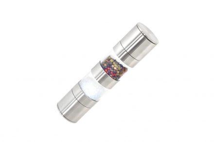 Χειροκίνητος Μύλος Αλατιού και Πιπεριού 2 σε 1 σε Ασημί χρώμα - Aria Trade