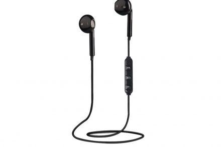 Ασύρματα Ακουστικά Earbuds με ενσωματωμένο Μικρόφωνο σε μαύρο χρώμα