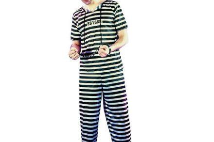 Αποκριάτικη Ανδρική Στολή Ενήλικα Φυλακισμένος One Size - Aria Trade