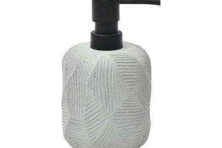Διανεμητής Σαπουνιού Dispenser Δοχείο για Κρεμοσάπουνο σε γκρι χρώμα με σχέδιο