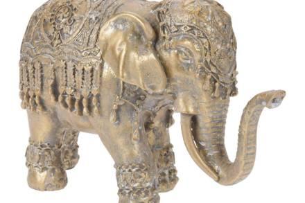 Διακοσμητική Φιγούρα Ελέφαντας σε χρυσό χρώμα