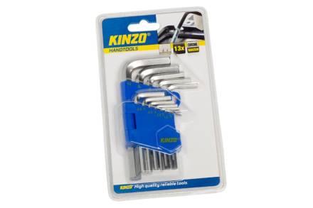 Kinzo Σετ εργαλεία κλειδιών Allen 13 τεμαχίων chrome vanadium steel