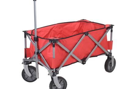 Ρυμουλκόμενο Μεταλλικό Καρότσι μεγίστου βάρους 70 κιλών σε κόκκινο χρώμα