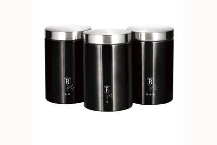 Berlinger Haus σετ μεταλλικά βάζα 3 τεμαχίων για καφέ