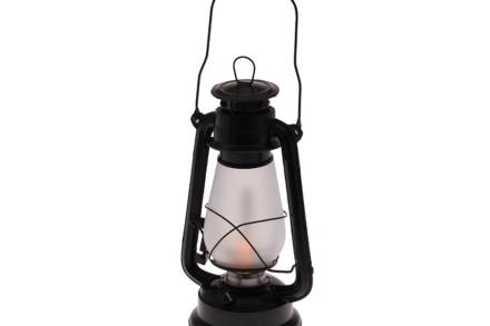 Διακοσμητικό Φαναράκι με LED φωτισμό με μαύρο matte χρώμα