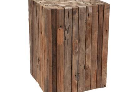 Διακοσμητικό Ξύλινο Σκαμπό από ξύλο Teak