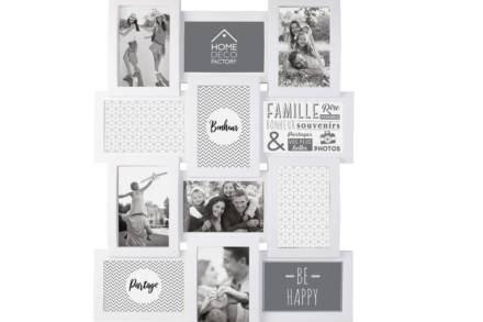 Κορνίζα Τοίχου με θέσεις για 12 φωτογραφίες σε λευκό χρώμα