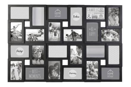 Κορνίζα Τοίχου για 24 φωτογραφίες σε μαύρο χρώμα