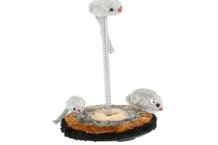 Pet Toys Παιχνίδι Γάτας 3 Ποντίκια σε Ελατήριο