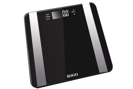 Sogo Γυάλινη Ζυγαριά Μπάνιου με ψηφιακή οθόνη με μέγιστο βάρος χρήστη 150kg