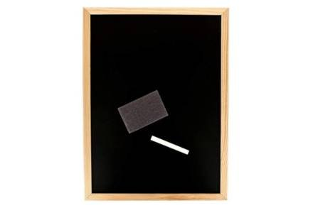 Ξύλινος Μαυροπίνακας Κιμωλίας Σημειώσεων με σφουγγάρι και κιμωλία