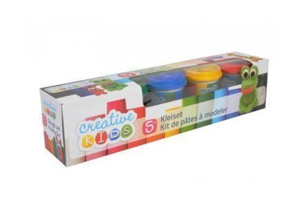 Creative Kids Πλαστελίνη Σετ 5 Βαζάκια 140gr με τα βασικά χρώματα