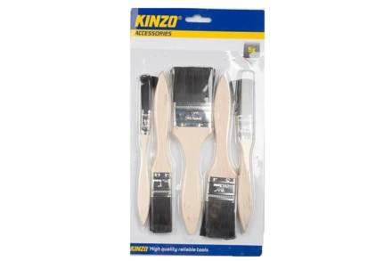 Kinzo Σετ Πινέλα Βαψίματος 5 τεμαχίων με ξύλινες λαβές - Kinzo