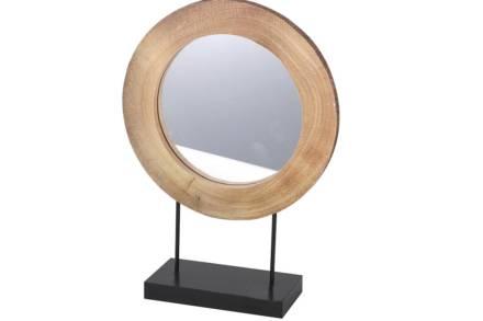 Διακοσμητικός Επιτραπέζιος Καθρέφτης με μαύρη βάση