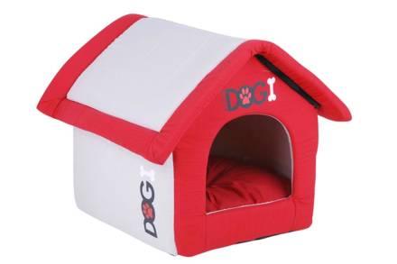 Σπιτάκι σκύλου σε κόκκινο καφέ χρώμα