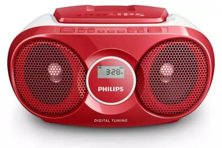 Philips Φορητό Ραδιόφωνο CD Player 3W σε Κόκκινο χρώμα