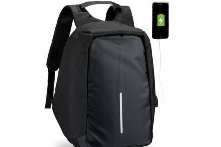 Αντικλεπτικό Σακίδιο Πλάτης με θύρα USB Τσάντα Ταξιδιού Backpack με κρυφά Φερμουάρ σε Μαύρο Χρώμα