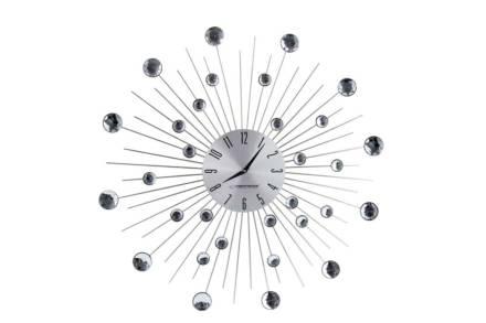Διακοσμητικό Ρολόι Τοίχου Boston με Κρύσταλλα και διάμετρο 50 cm