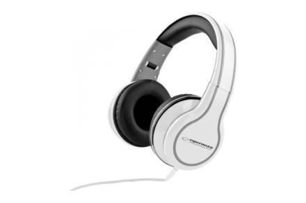Ενσύρματα Ακουστικά Κεφαλής 3.5mm 105dB σε λευκό χρώμα