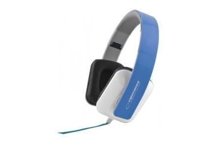 Ενσύρματα Ακουστικά Κεφαλής 3.5mm 105dB σε μπλε χρώμα