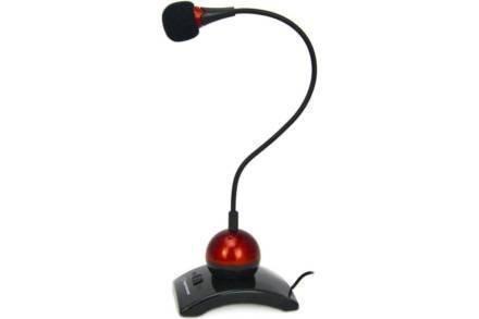 Μικρόφωνο Γραφείου με Switch Chat σε κόκκινο χρώμα
