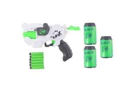 Σετ Παιδικό Όπλο 10 τεμαχίων με Σφαίρες και Τενεκεδάκια