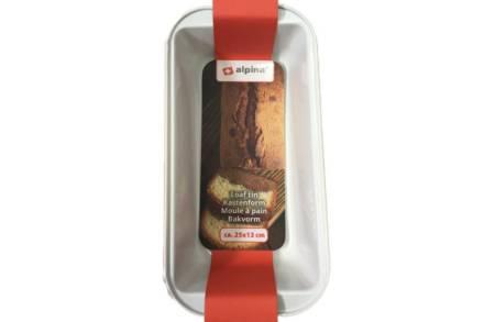 Alpina Μακρόστενη Φόρμα Ψησίματος με αντικολλητική επίστρωση σε κόκκινο χρώμα