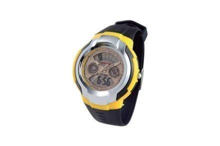 Ρολόι Sport Unisex Αναλογικό Ψηφιακό με πολλές λειτουργίες σε Μαύρο/Κίτρινο χρώμα με Ασημί Ενδείξεις