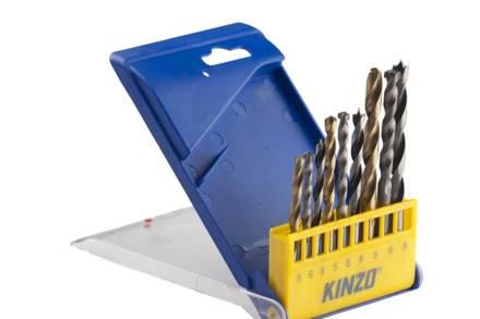 Kinzo Σετ Τρυπάνια 9 τεμαχίων 5-8mm με θήκη αποθήκευσης