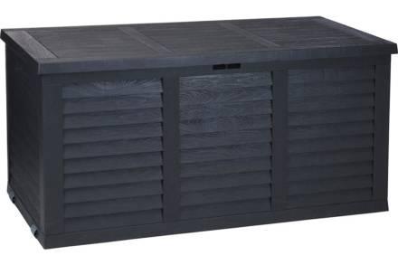 Μπαούλο Αποθήκευσης Κήπου σε σκούρο γκρι χρώμα 380ltr