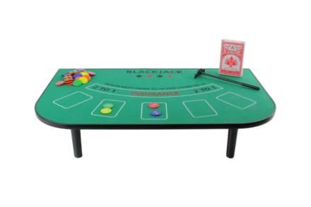 Τραπέζι Black Jack με τράπουλα και μάρκες