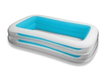 Intex Φουσκωτή Παραλληλόγραμμη Οικογενειακή Πισίνα 262x175x56cm σε Λευκό-Μπλε χρώμα